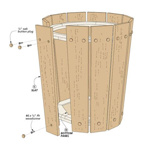 craftsman style wastepaper basket woodworking project