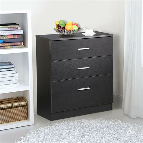 Wood Storage Cabinets With Drawers by Black Wood 3 Drawer File Storage Cabinet Office Filing