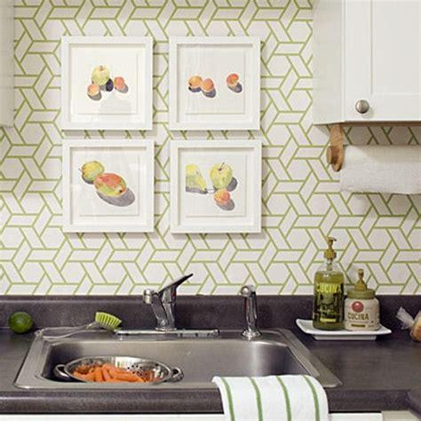 modern kitchen designs  geometric wallpapers rilane