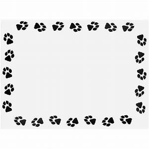 Puppy Paw Border Clipart