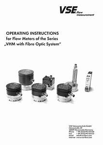 Operating Instructions For Flow Meters Of The Series Vhm