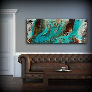 20 top brown and turquoise wall art wall art ideas With blue wall decor