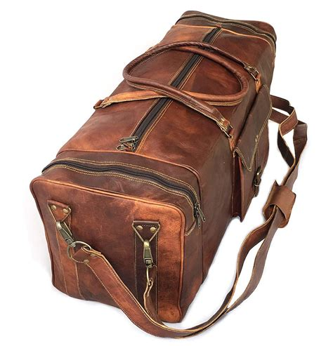 Travel Luggage Duffel Bag Real Goat Leather 28 Inch Large ...