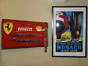 1956 Ferrari Grand Prix Race Car Inspired Hood Panel Wall ...