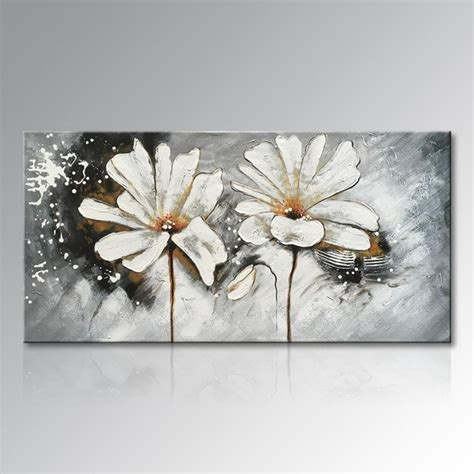 Abstract Black Flower Painting by 20 Photos Abstract Floral Canvas Wall Wall Ideas