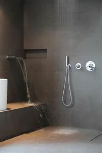 Comment Faire Une Douche Italienne : la salle de bain avec douche italienne 53 photos id e ~ Nature-et-papiers.com Idées de Décoration