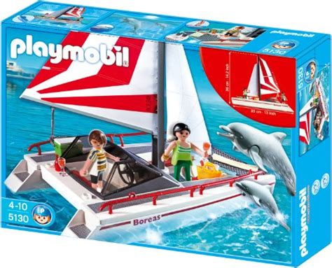 Playmobil Boats Sale by Playmobil Catamaran With Dolphins Toys Toys Play