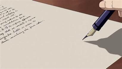 Anime Animated Writing Student Aesthetic Gifs Pen