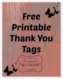 Free Printable Thank You Tags
