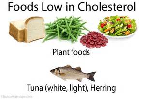 Low Cholesterol Diet Food Chart