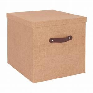 Boite Rangement Papier : come bo te de rangement en carton 60x48 marron habitat ~ Teatrodelosmanantiales.com Idées de Décoration