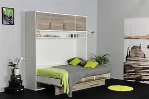 Lit Armoire Gain De Place : lits escamotables gain de place ~ Premium-room.com Idées de Décoration