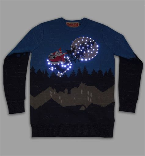 unisex retro led lightup sleigh ride jumper from