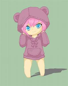 chibi girl with hoodie by kasuminox on DeviantArt