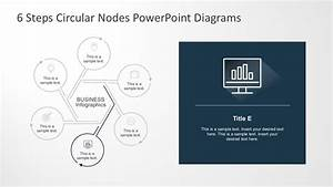 6 Steps Circular Nodes Powerpoint Diagrams