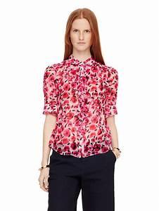 Kate Spade Ruffle Blouse - Collar Blouses