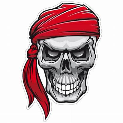 Skull Pirate Bandana Head Mort Tete Decals
