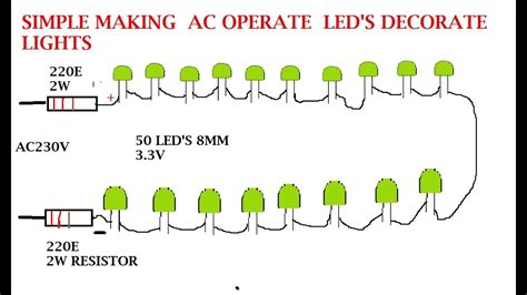 Serial Lighting Diagram by Make Your Own Serial Led Lights For Ac 230v And 120v