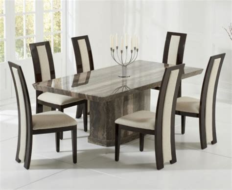 marble breakfast table sets carvelle 200cm brown pedestal marble dining table with