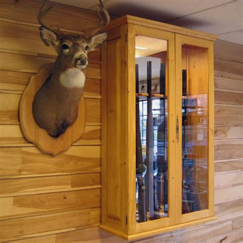 Armoire A Fusils by Massive Wood Guns Cabinet