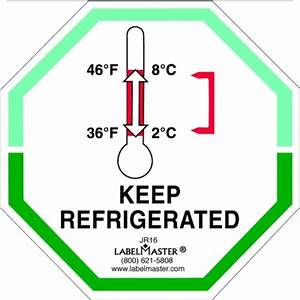 keep refrigerated label temperature control labels jr16 With keep refrigerated label