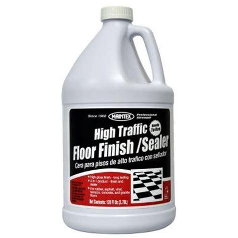 vinyl floor sealer home depot maintex 1 gal high traffic floor finish and sealer case of 4 127204hd the home depot