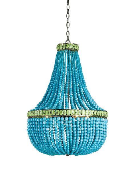 turquoise chandeliers turquoise jade beaded chandelier cottage home 174