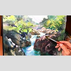 [ Eng Sub ] Watercolor Tutorial  How To Paint A Mountain