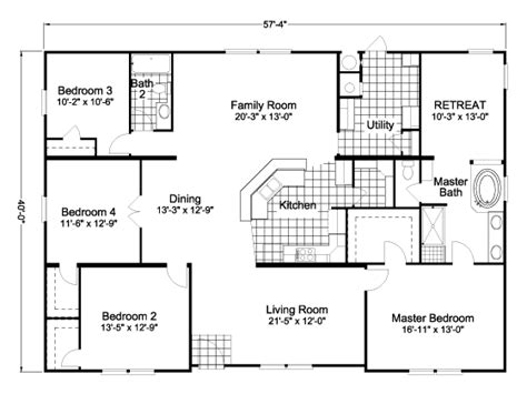 Wide Manufactured Home Floor Plans Oregon by Wide Mobile Home Floor Plans Floor Matttroy