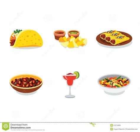 am駭agement mini cuisine food promo poster mini set with stock vector image 51274608