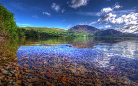 วอลเปเปอร์ : แนวนอน, ทะเลสาบ, ธรรมชาติ, การสะท้อน, ท้องฟ้า ...