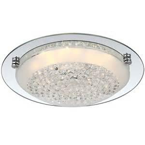 froo flush clear chrome led ceiling light