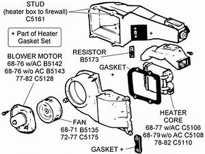 Fan  Heater Core  And Related - Diagram View