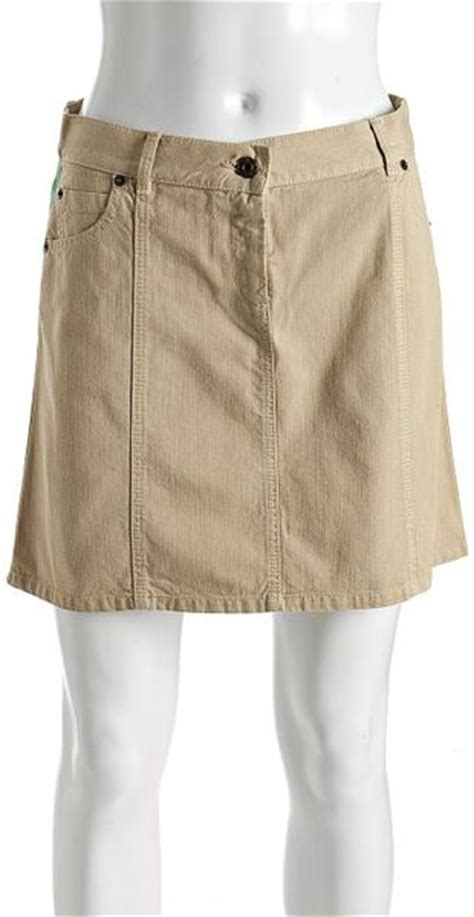 moschino cheap chic khaki denim  italian skirt