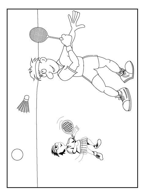 Kleurplaat Badminton by 2006 Gif