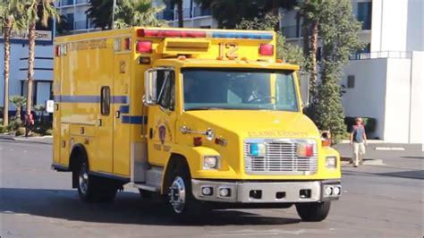 ambulance las vegas fire department clark county youtube