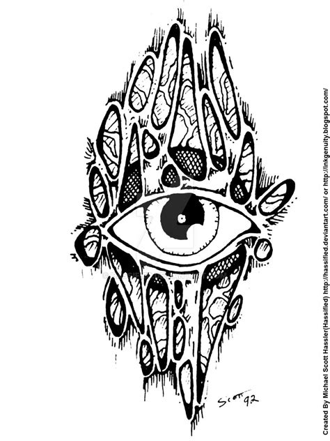 Pin by Michael Hassler on Custom Tattoo Designs | Trippy designs, Third eye, Flower doodles