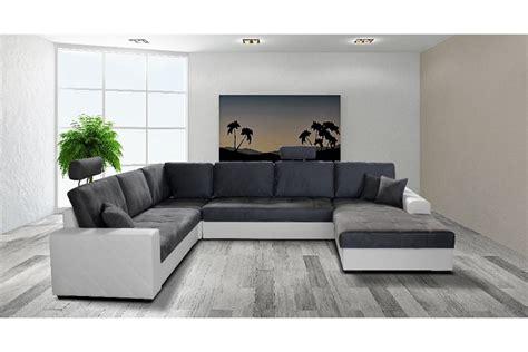 canapé noir et blanc but canapé d 39 angle convertible en u laure design
