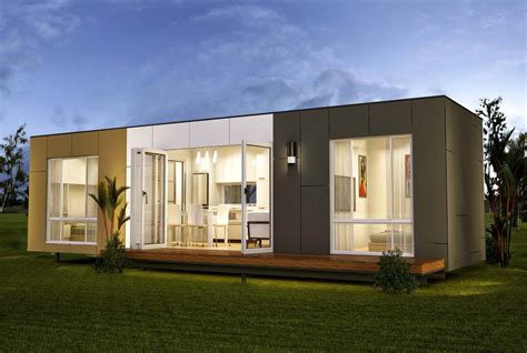 Elegant Minimalist Design Of The Prefab Shipping Container