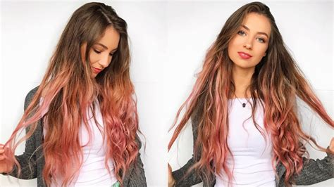 Diy Pink Ombre Hair At Home With Loreal Colorista Youtube
