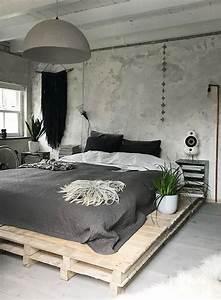 Comment Faire Un Lit En Palette : lit en palette 26 id es pour en fabriquer un dans votre chambre ~ Nature-et-papiers.com Idées de Décoration