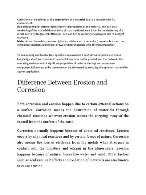 Corrosion | Corrosion | Polymers