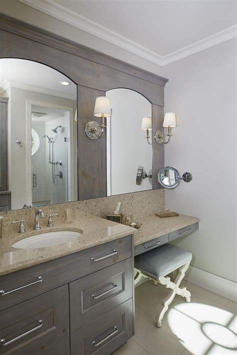 stained bathroom cabinets classic gambrel style shingle home home bunch interior Grey