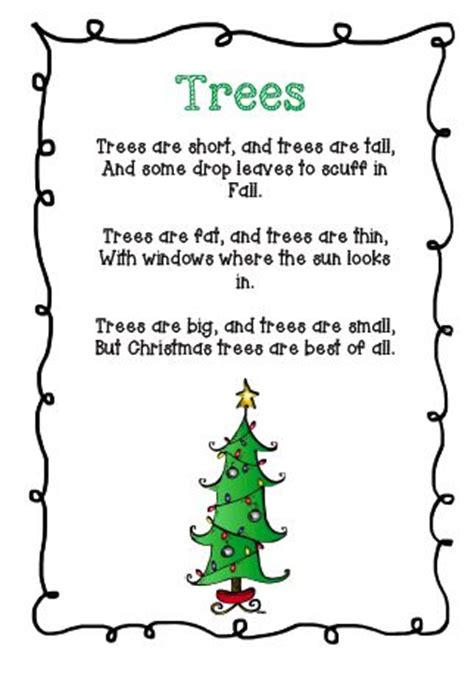 christmas tree songs for preschoolers tree and santa s poems craft poems 8795