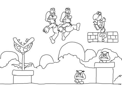 Super Mario Bros Coloring Pages Coloringsuitecom
