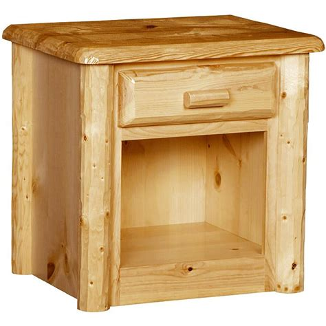 pine cabinets kitchen rustic wood nightstand w drawer 1489