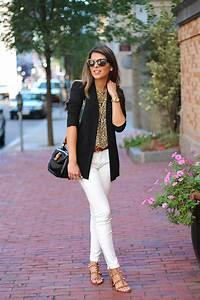 White Jeans u0026 Animal Print Top