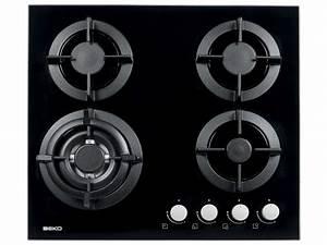 Plaque De Verre Pour Table : table de cuisson gaz 4 foyers beko hisw64222s beko ~ Dailycaller-alerts.com Idées de Décoration