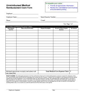 unreimbursed employee expenses letter  employer edit