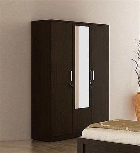 Clothes Cupboard With Mirror by Buy Kosmo Weave Three Door Wardrobe With Mirror Drawer